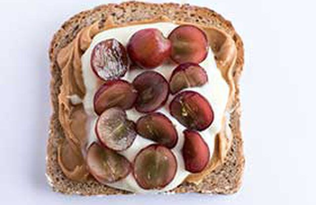The Goob Peanut Butter Toast With Greek Yogurt and Grapes