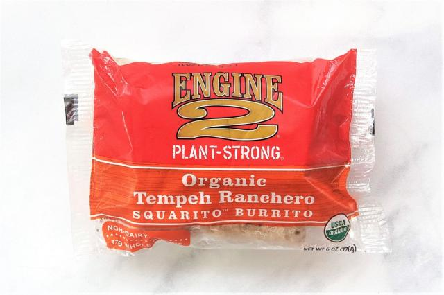 Engine 2 Plant-Strong Organic Tempeh Ranchero Squarito� Burrito is a frozen vegan burrito with its main protein source coming fr