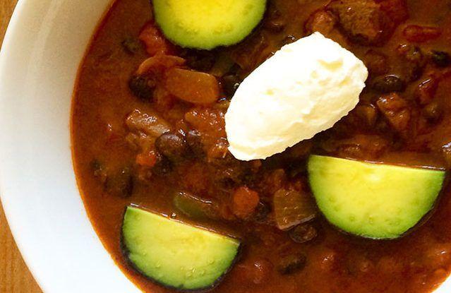 Crock Pot Beef Shank & Black Bean Chili