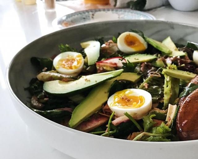 Green Eggs and Kale Salad