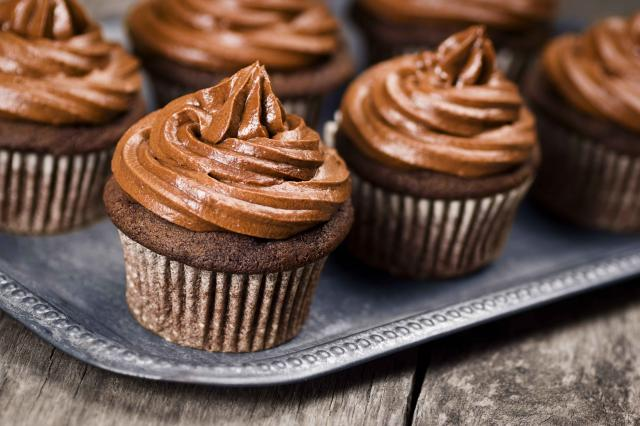Chocolate Cupcakes with Swirls of Chocolate Frosting