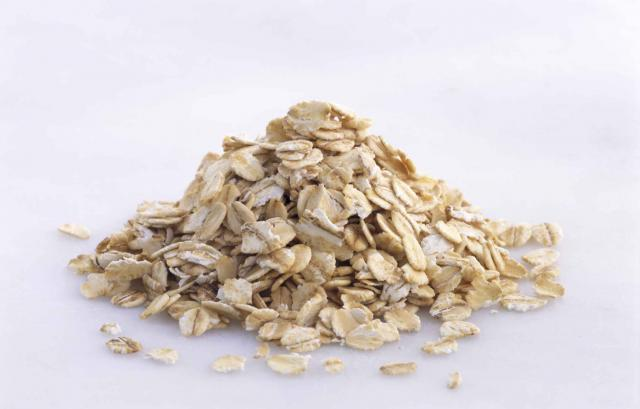 Pile of oat flakes, close-up