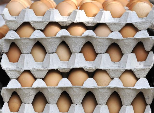 Fresh eggs in their carton