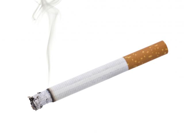 smoking cigarette isolated