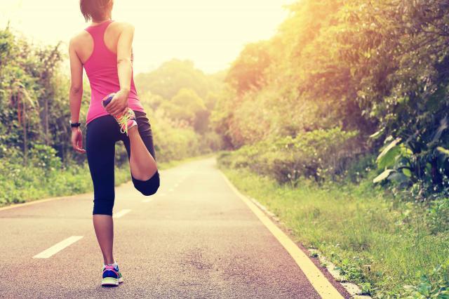 woman runner warm-up outdoor