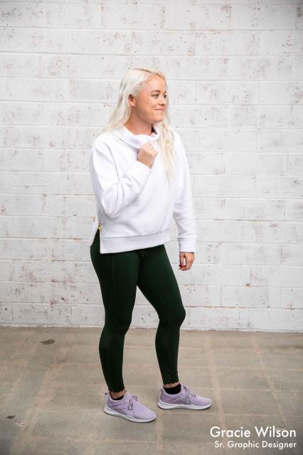 varley leggings and sweater