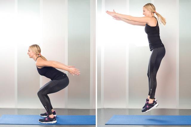 9. Squat Jumps
