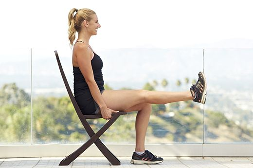8. Seated Leg Extensions