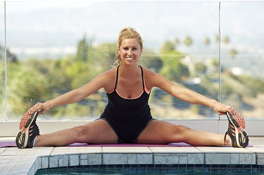 14. Seated Straddle Stretch