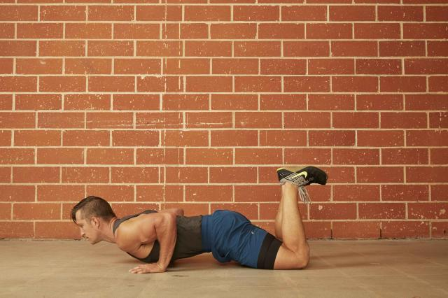 man demonstrating how to do a Modified (Knee) Push-Up