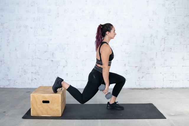 Jordan Shalhoub Doing a Plyo Box Bulgarian Split Squat