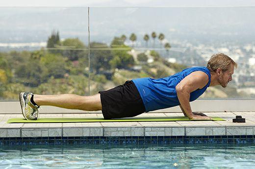 Man doing push-up exercise for better sex