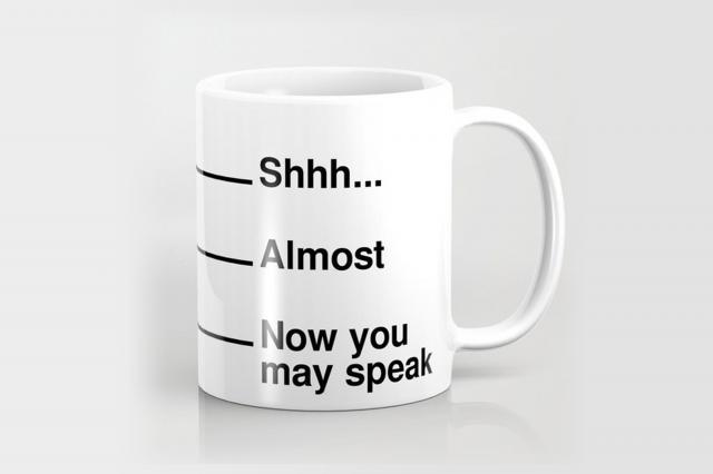 society6 coffee measuring mug