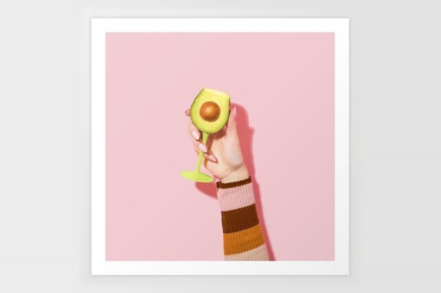 society6 avocado toast art print