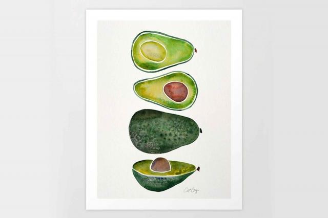 society6 avocado slices print