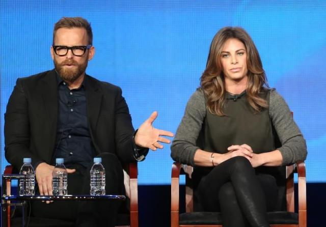 PASADENA, CA - JANUARY 06: Trainers Bob Harper and Jillian Michaels speak onstage at the �The Biggest Loser� panel discussion du