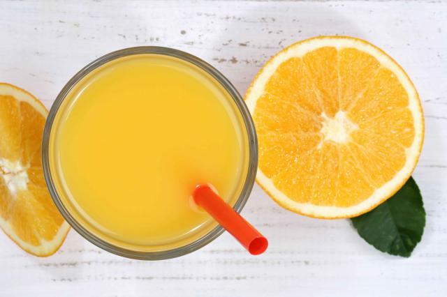 Orange juice oranges from above fruit fruits