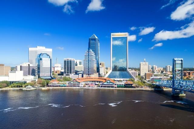 9. Jacksonville, Florida – 25.1