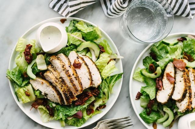 Boneless Chicken Breasts on a Salad
