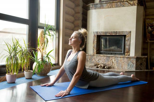 Yoga at home: Cobra Pose