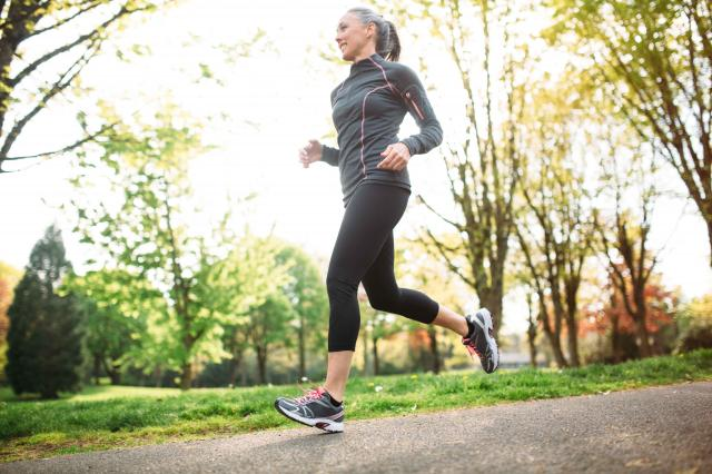 Mature Woman Jogging Outdoors
