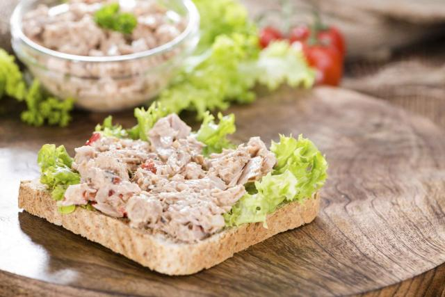 Slice of bread with Tuna salad