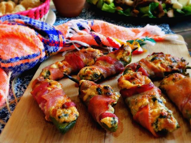 Bacon-Wrapped Stuffed Jalapeno Poppers
