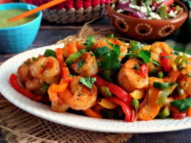 Spicy Shrimp Keto Fajitas